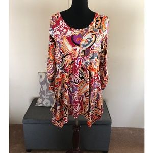 Lord & Taylor Context Brand Tunic Top Size XL